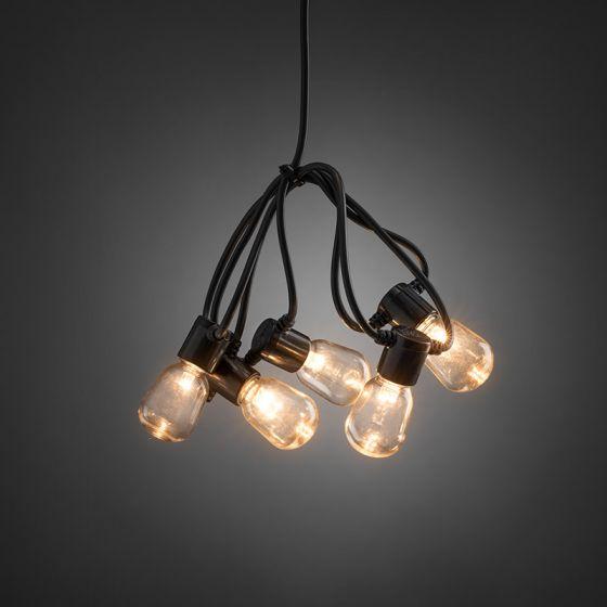 Konstsmide 19.75M Amber LED Clear Oval Festoon Lights - 40 Lights