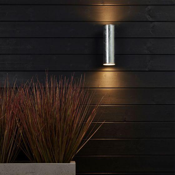 Edit Coastal Pimlico LED Outdoor Up & Down Wall Light - Galvanised Steel