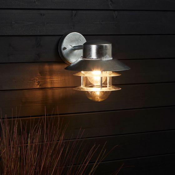 Edit Coastal Stage Outdoor Hanging Wall Light - Galvanised Steel
