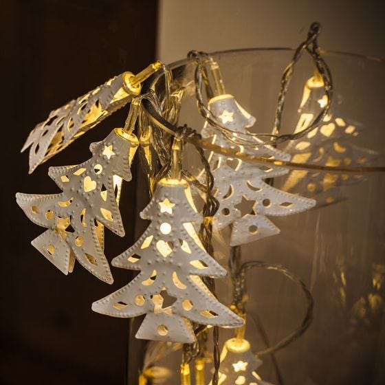 Edit Christmas Tree Battery Operated LED String Lights - 10 Lights