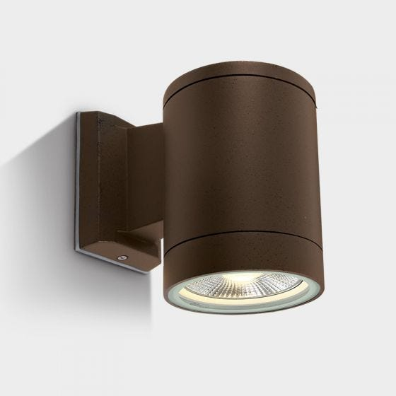 Cylinder Large Outdoor Wall Light - Rust Brown