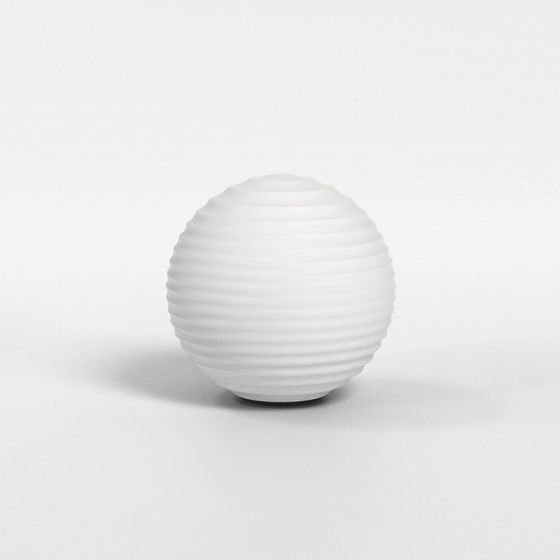 Astro Tacoma Ribbed Glass Opal Shade - White