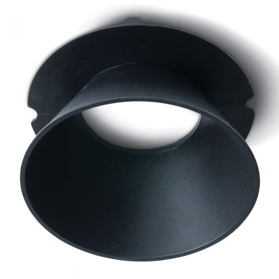 Air Round Reflector for Trimless Plaster In Downlight - Black