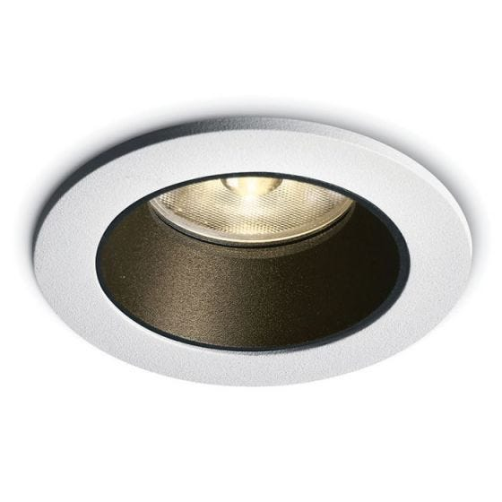 7W Warm White LED Fixed Downlight - White