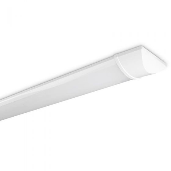 Eco 60W Cool White LED Batten - 6ft Twin