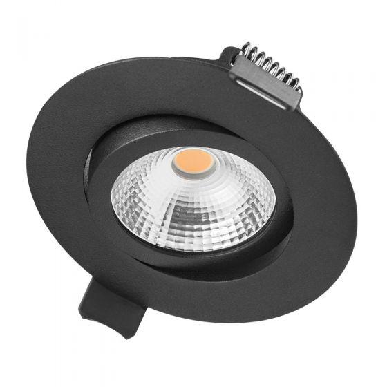 Integral Ultra Slim 6.5W Cool White Dimmable LED Tiltable Downlight - Black