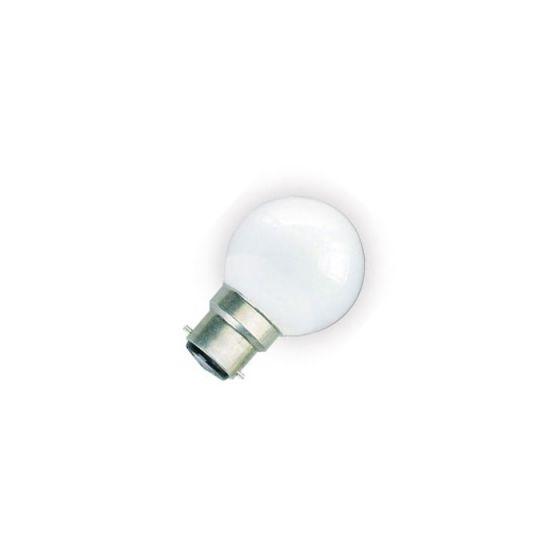 1W Daylight LED Golf Ball Bulb - Bayonet Cap