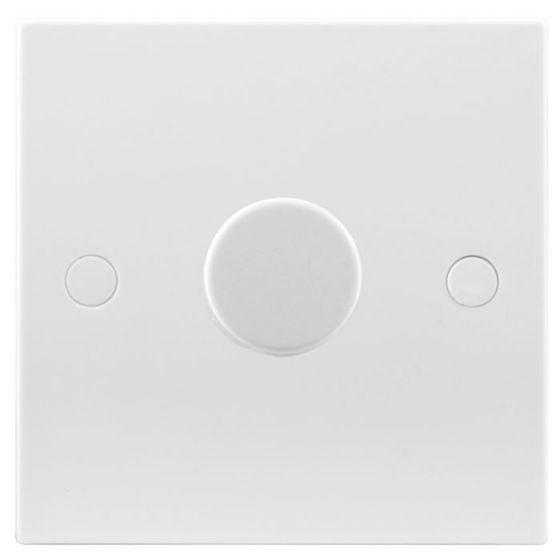 White Moulded 1 Gang 2 Way 400W Dimmer