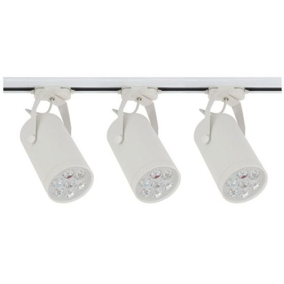 Edit Store 7W LED Track Light Kit - White - 3 Lights