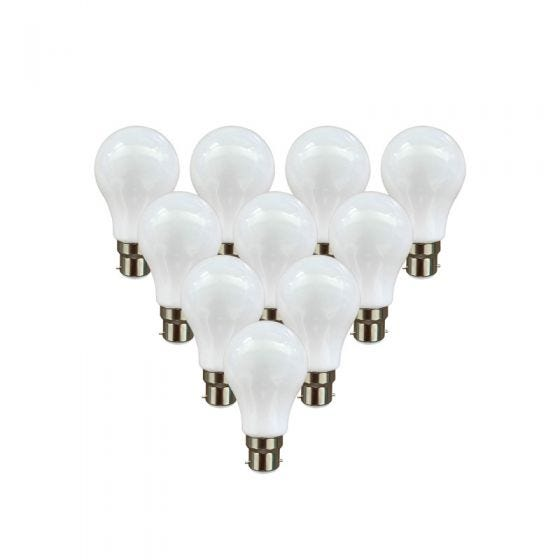 Lyco 1W Cool White LED GLS Bulb - Bayonet Cap - Pack of 10