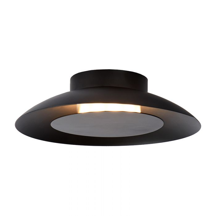 Lucide Foskal Led Flush Ceiling Light Black Lighting Direct