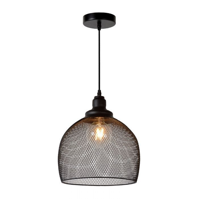 Lucide Mesh Ceiling Pendant Light, Wire Mesh Lamp Shade