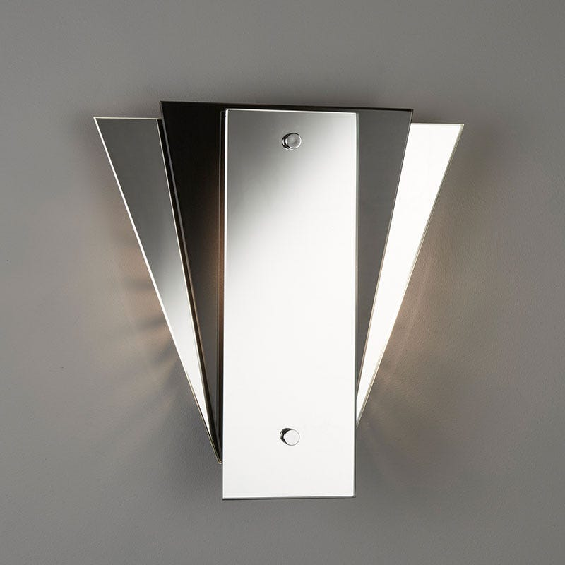 Searchlight Fan Mirror Wall Light - Black