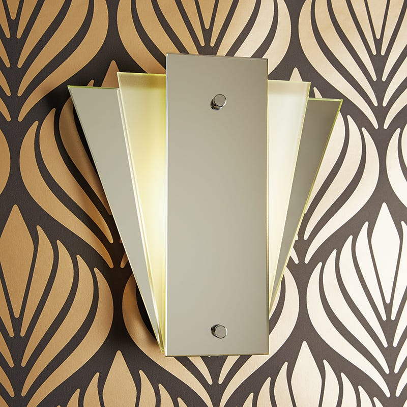 Searchlight Fan Mirror Wall Light - White